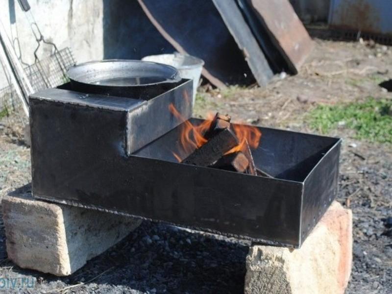Сделал мангал из металла своими руками