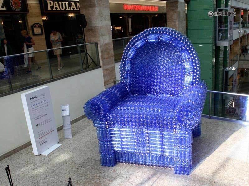 Как из пластиковых бутылках сделать кресло 144