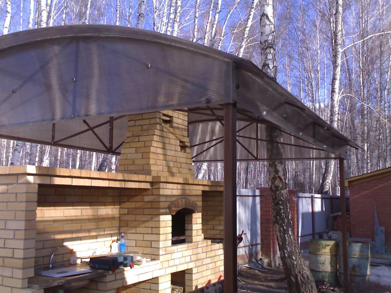 Навес для мангала своими руками: конструкция из дерева 44