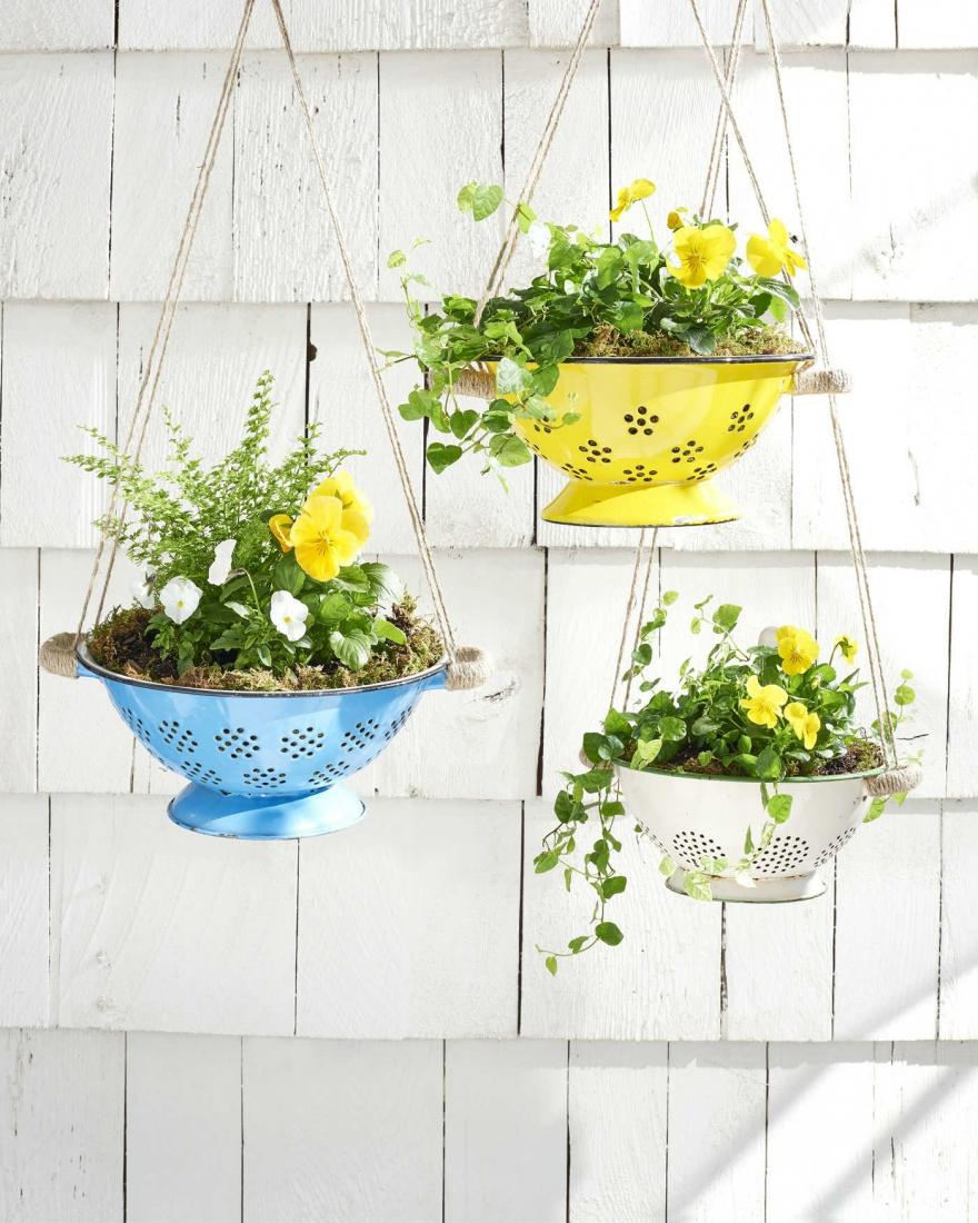 Горшки подвесные для сада своими руками фото