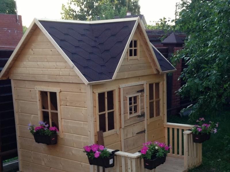 Детский деревянный домик для дачи своими руками схема фото 276
