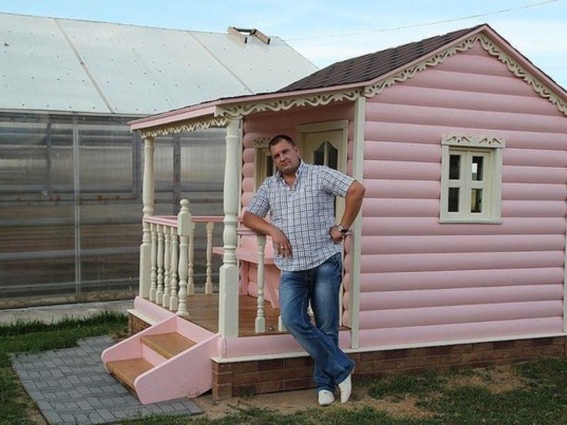 Как построить детский домик для дачи своими руками фото фото 362