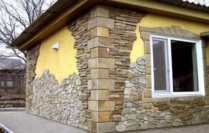 Внешняя отделка дома сайдингом под камень