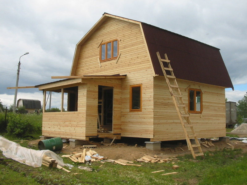 Фото строительство дачного домика
