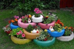 Садовые клумбы своими руками