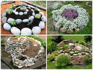 Клумбу из камня: выбор материала и правила изготовления своими руками