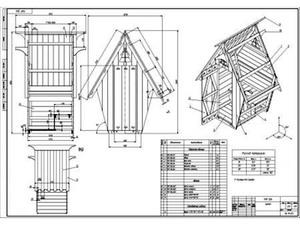 Туалет избушка на даче своими руками чертежи размеры 779