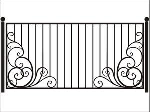 Делаем красивые рисунки на заборе