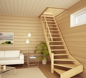 Лестницы своими руками в садовый домик 63