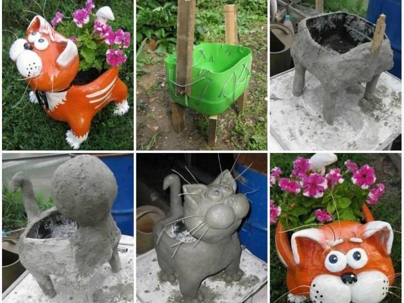 Как сделать фигурки в сад своими руками фото