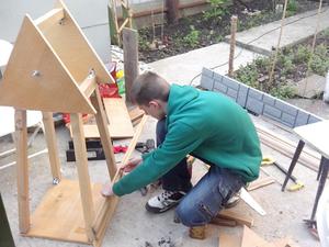 Декоративная мельница для сада своими руками чертежи фото 582