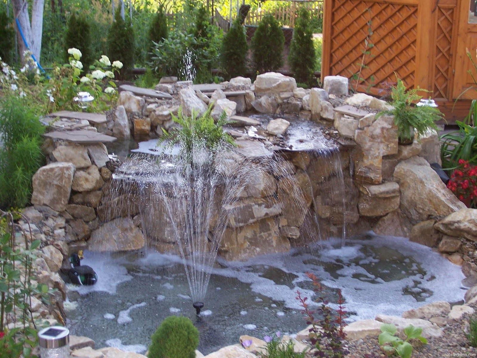 Фонтаны водопады сада своими руками фото 959