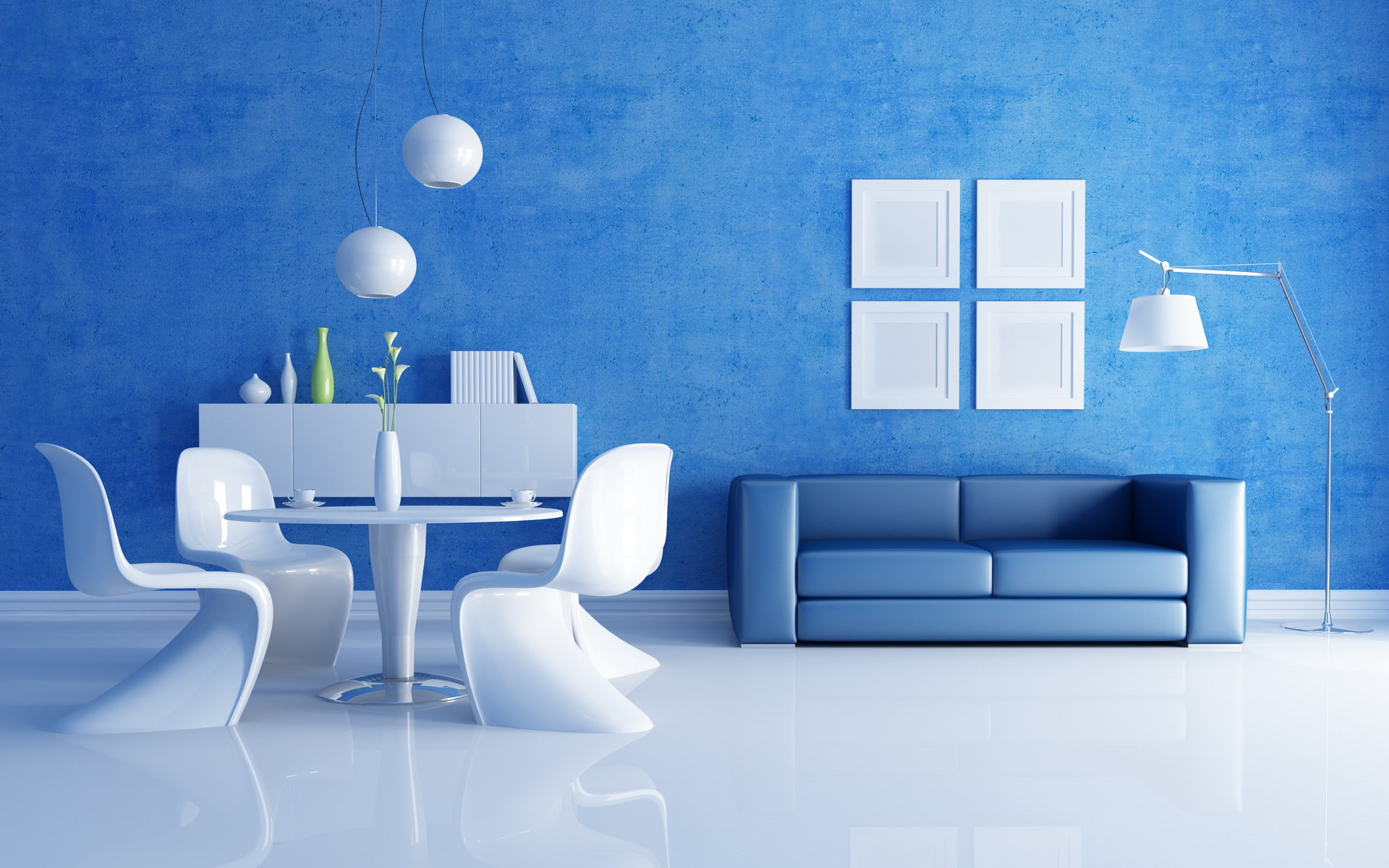 картинки на стену для интерьера в синем колесо цыганском