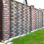 Кирпичный забор: фото, виды, материалы, как построить