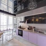 Натяжной потолок на кухне: фото, советы, плюсы и минусы