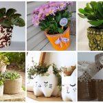 Кашпо для цветов своими руками: фото, виды и материалы