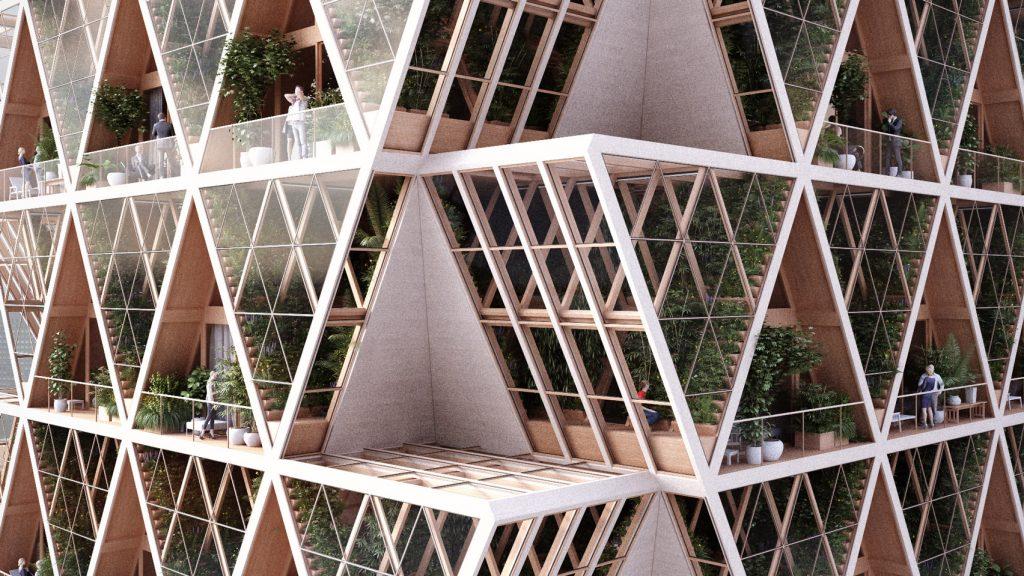 The farmhouse vertical farm apartments