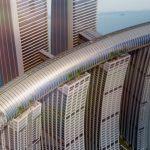 Горизонтальный небоскреб Raffles City Chongqing: фото и проект