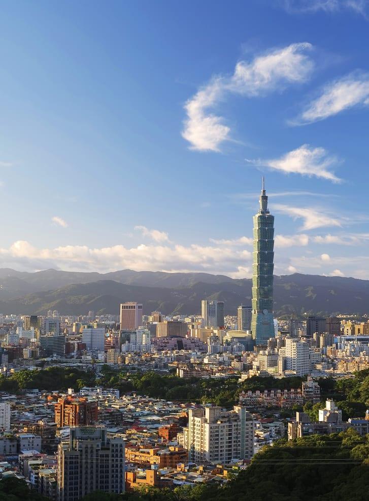 Возвышаясь над столицей, Тайбэй 101 когда-то носил титул самого высокого здания в мире