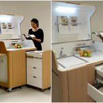 Кухня-трансформер в тумбе: фото, устройство, принцип работы