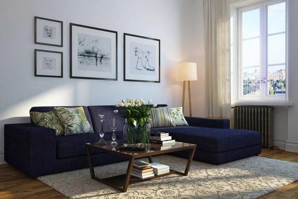 Диван для гостиной в скандинавском стиле