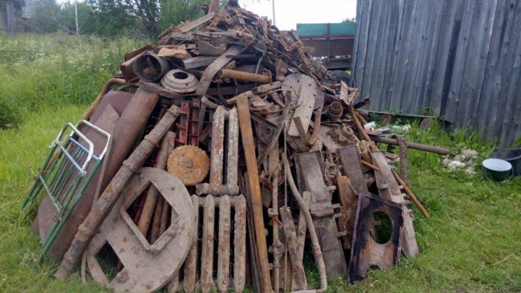 Очистка придомовой территории, вывоз металлолома с дачи